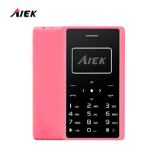 Новый оригинальный ультра тонкий карты мобильного телефона 4.8 мм AIEK X7 aeku X7 low radiation мини карман для учеников телефон multi Язык
