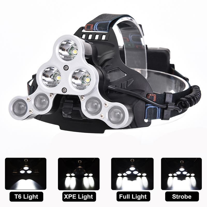 Zure 7 LED Super Bright Headlamp Flashlight for Camping USB Rechargeable Batteries 4 Modes