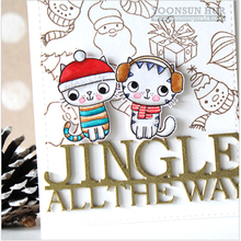 Winter Word JINGLE ALL THE WAY  Metal Cutting Dies Stencils DIY Scrapbooking Album Paper Cards Craft Decor Embossing New