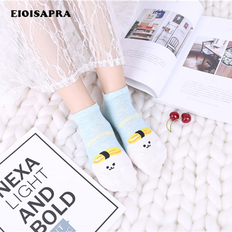 [EIOISAPRA]Japan Spring Summer New Product Cotton Lovely Cartoon Color Diversity College Style Socks Women Outside Casual Meias