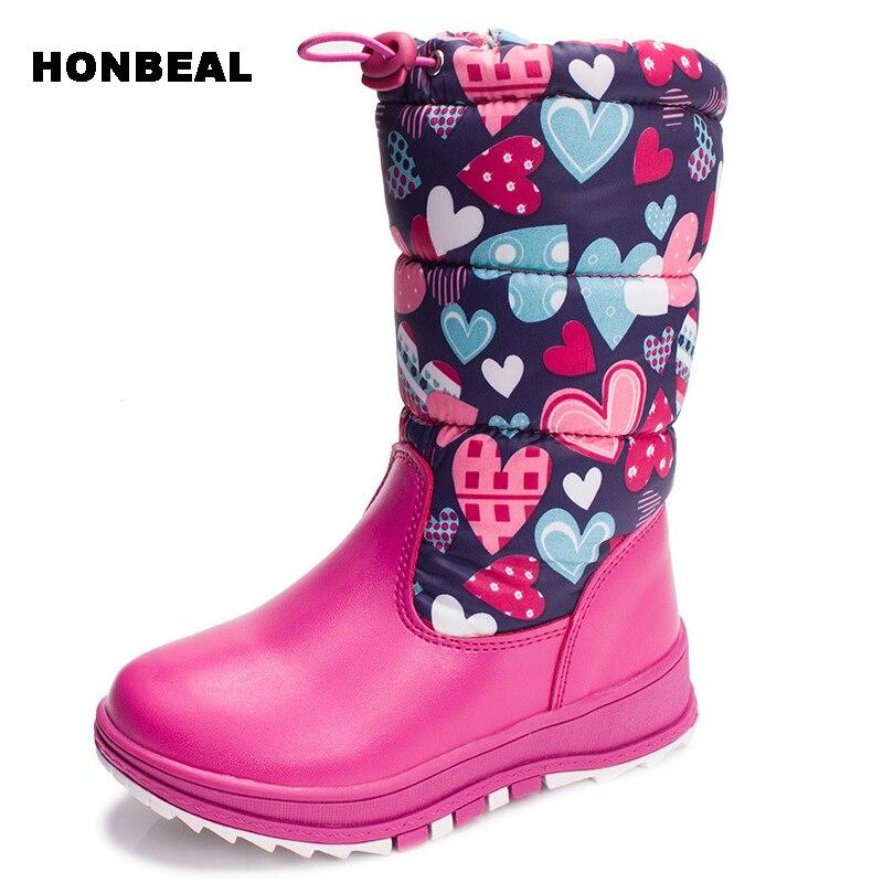 27-32 девочки зимние сапоги для девочки, ткань обувь носить нескользящей Детская обувь туфли-botas супер теплые стельки пух