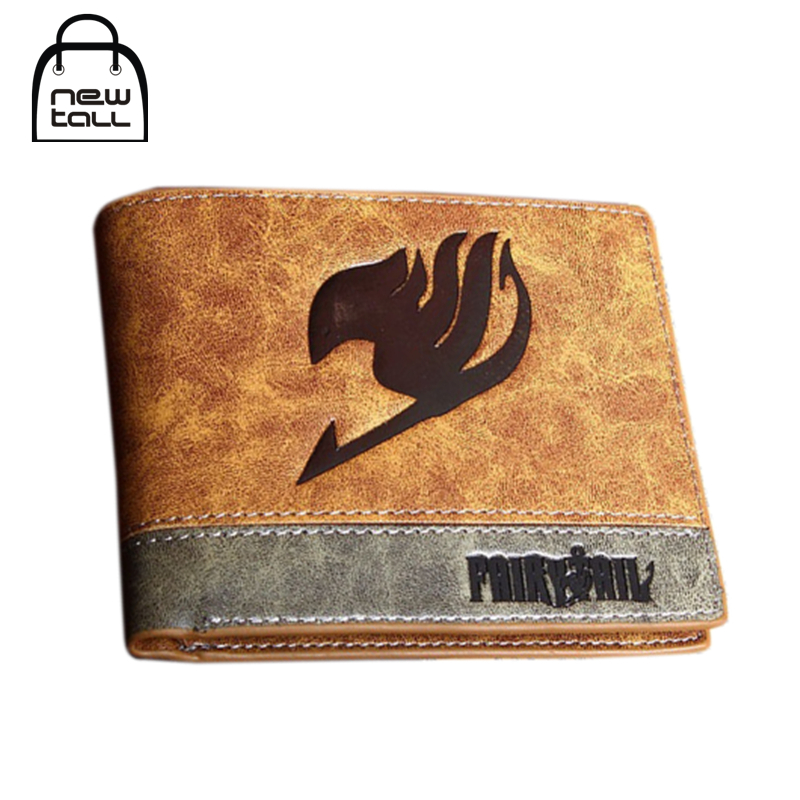 [NEWTALL] Japanese Anime Fairy Tail Guild Symbol PU Leather Short Bifold Wallet Credit Card Holder Purse T1249 anime fairy tail wallet cosplay school students money bag children card holder case portefeuille homme purse wallets