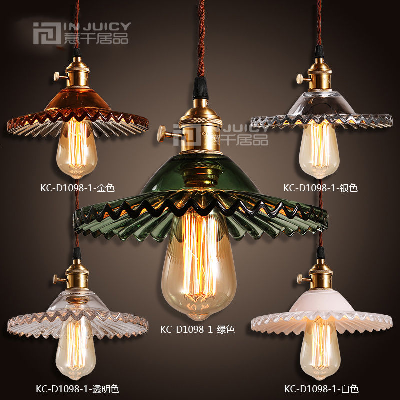 Industrial Vintage Edison Iron Glass Lotus Flower Cafe Ceiling Lamp Light Fixture Droplight Chandelier Bar E27 LED Decor New loft edison vintage retro cystal glass black iron light ceiling lamp cafe dining bar hotel club coffe shop store restaurant