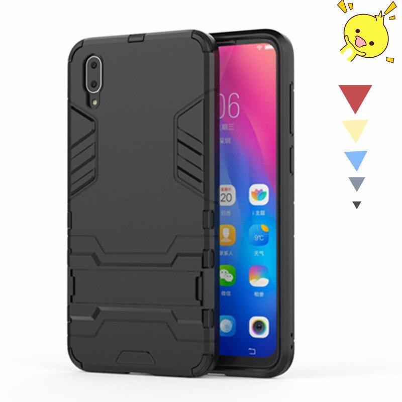 For Vivo Y97 Case Silicone + Plastic Kickstand Phone Holder Anti-knock Phone Case For Vivo Y97 Cover For Vivo Y97 Funda BSNOVT