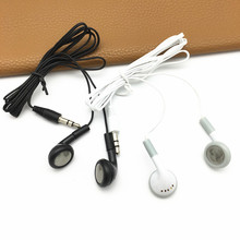 Wholesale White 3.5mm Disposable Earphones Earbuds for School Library Plane, Theatre Museum Concert, hotel ,hospital
