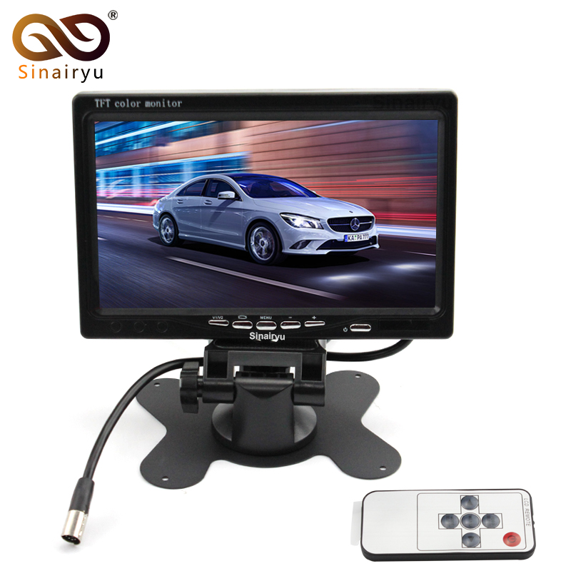 Sinairyu T701 5PCS/Lot 7 TFT Color LCD 2 Video Input Car Monitor Headrest Monitor for Rearview Camera IR Remote Control