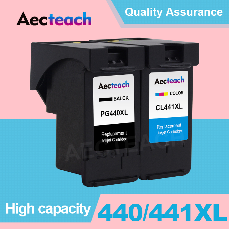 Aecteach PG440 PG <font><b>440</b></font> CL 441 <font><b>XL</b></font> Ink Cartridge For <font><b>Canon</b></font> PG-<font><b>440</b></font> CL-441 For <font><b>Canon</b></font> 440XL Pixma 4280 MX 438 518 378 MX438 Printer image