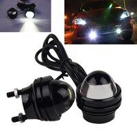 1 Pair Bright 15W Hawkeye White LED Car Headlight DRL Daytime Running Light Driving Fog Daylight