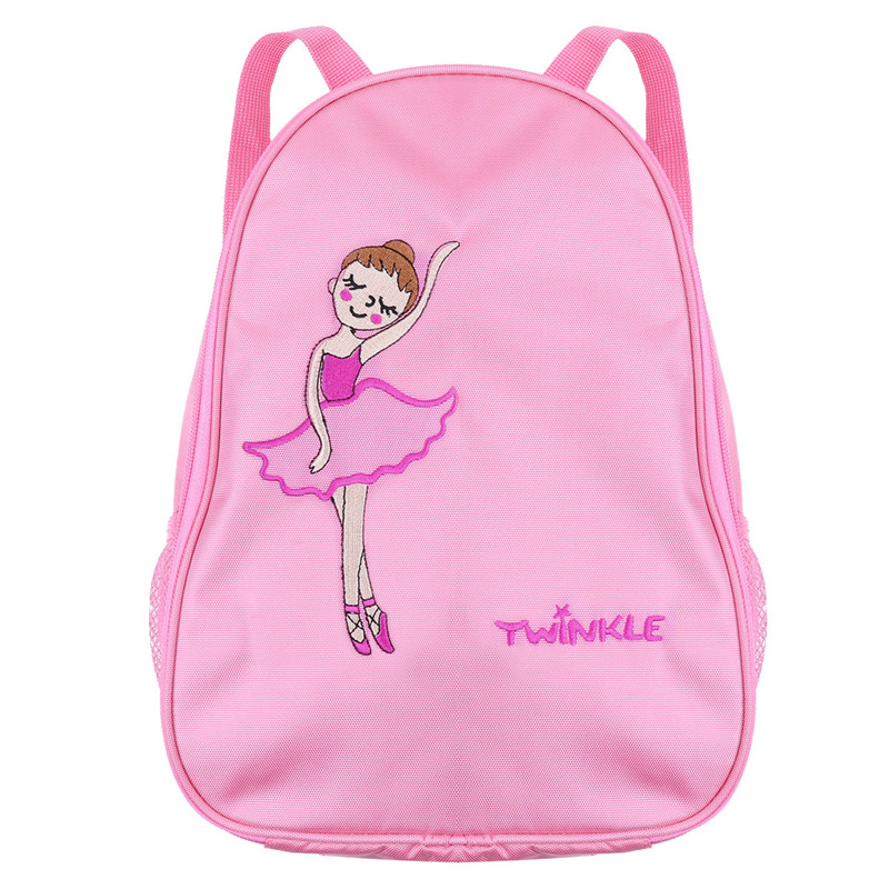 Kids Girls Ballet Dance Bag Lovely Fashion Students School Backpack Dance Bag Embroidered Ballerina Dancing Girl Shoulder Bag