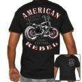 Hombre camiseta hombre American Rebel Biker T-Shirt
