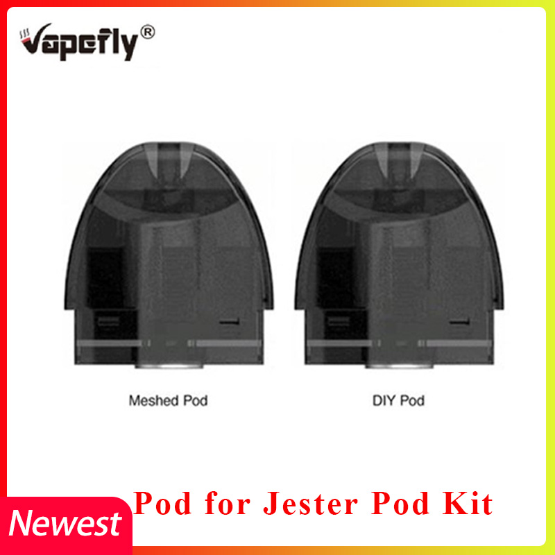 Vapefly Jester Pod Replacement Vape Cartridge 2ml & 0.5ohm For Vapefly Jester Pod Kit DIy/Mesh Version Electronic Cigarette Vape