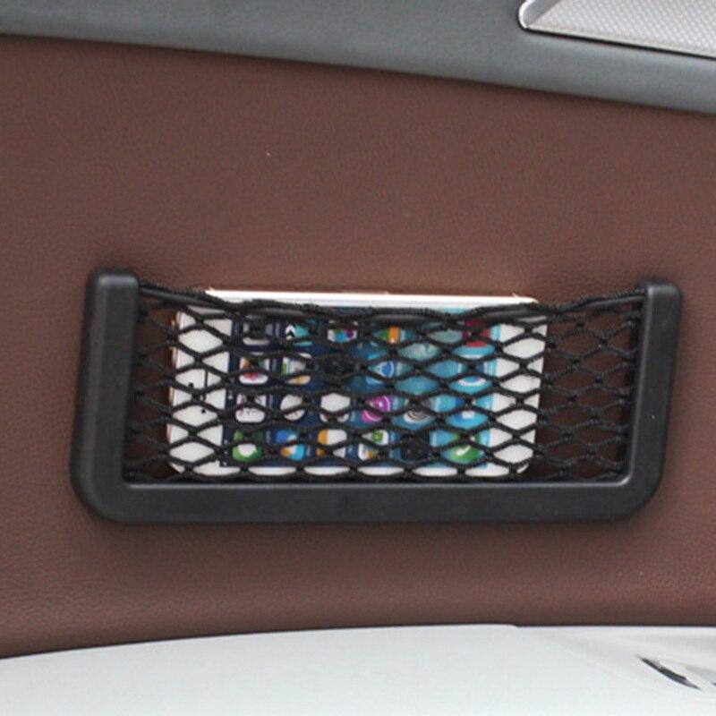 Trend Mark Car Stickers Net Pocket Car Carrying Case For Audi A4 B5 B6 B8 A3 A5 A6 Q5 Q7 For Bmw E30 E34 E36 E39 E46 E90 E60 F10 F30 Comfortable Feel