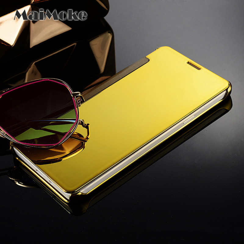 Translucent for Redmi Note 4 Mirror Case Flip Protection For Xiaomi Redmi Note 5A Case Gold Plating Plastic Phone Cover