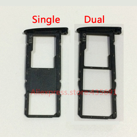 10Pcs/lot Original New Single / Dual Sim Card Holder Slot with Micro SD Tray Socket For Motorola Moto G6 XT1925