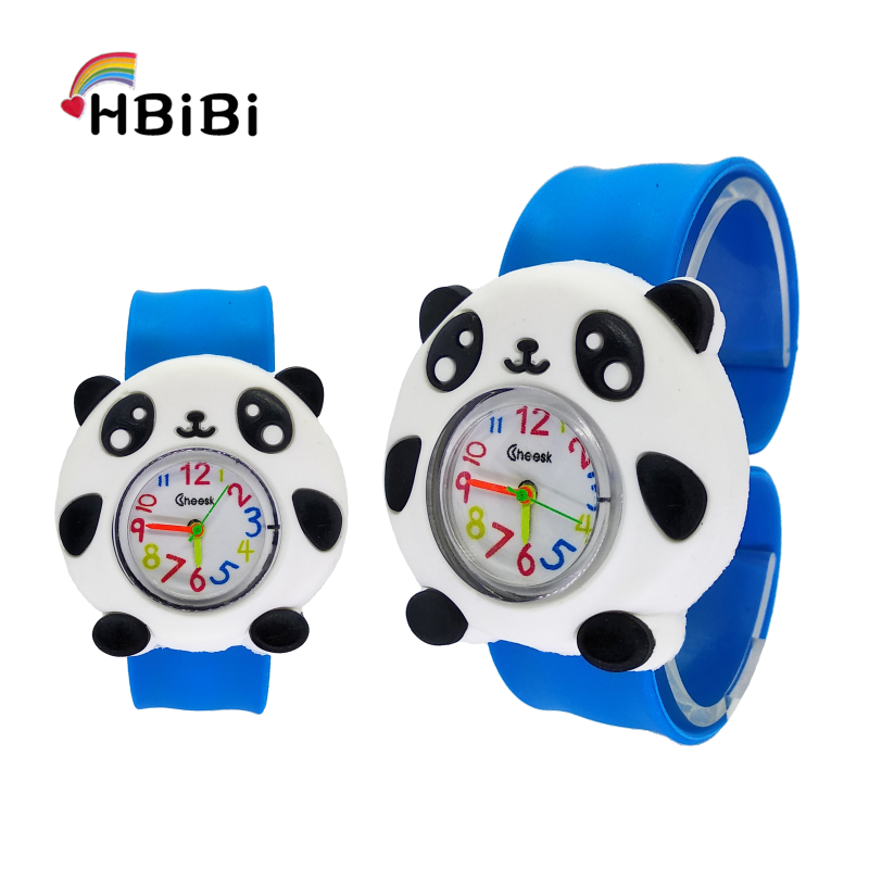 New Toy Panda Watch Children Silicone Slap On Wrist Kids Digital Watches For Boys Girls Clock Baby Mickey Watch Christmas Gifts