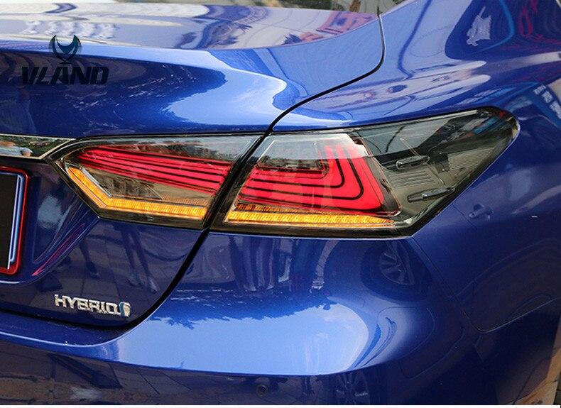 VLAND factory pour feu arrière de voiture pour Camry LED feu arrière 2018 pour Camry feu arrière clignotant avec indicateur séquenial feu arrière