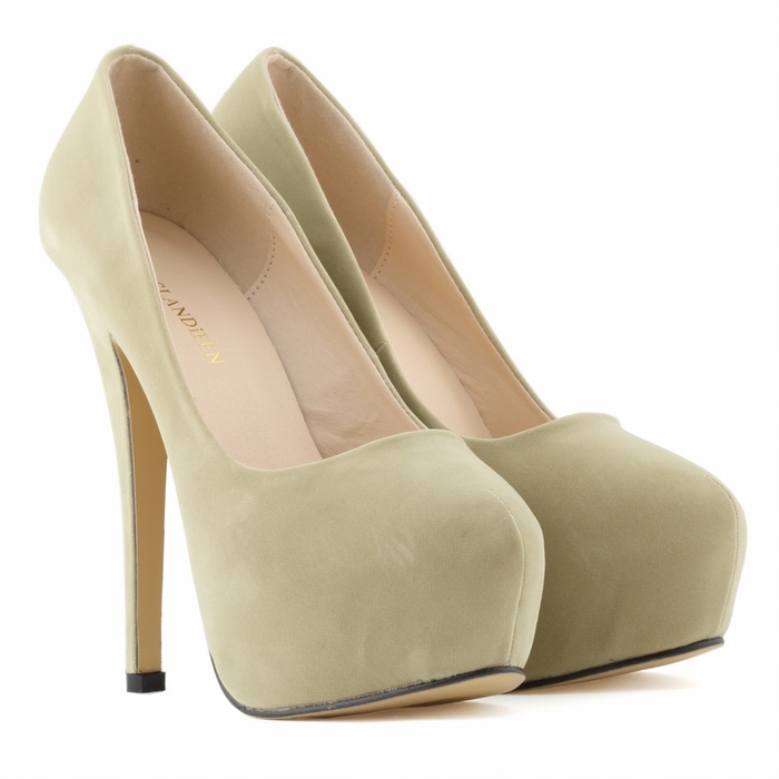 WOMENS HIGH HEELS PARTY COURT SHOES Flock CONCEALED PUMPS PLATFORM POINTED TOE US SIZE US4-11 817-1VE
