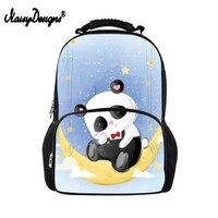Noisydesigns Trendy Casual School Bag For Boys Girls Daily Backpacks Women Panda Pattern Big Backpack Travel Rucksack Bagpack