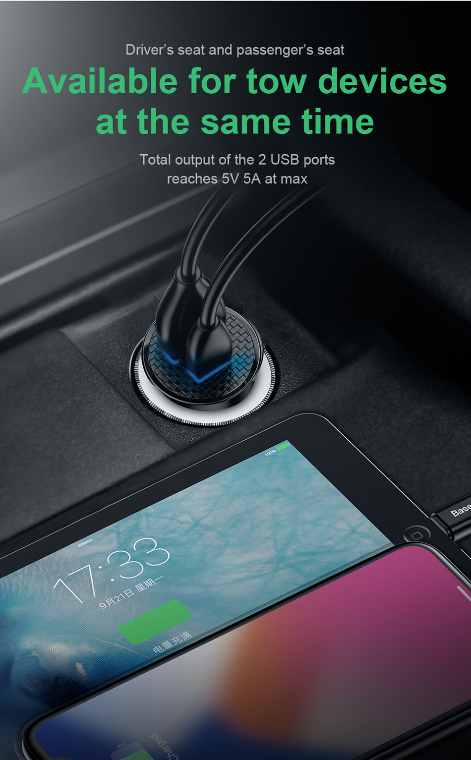 Baseus Quick Charge 4.0 3.0 USB Car Charger For Xiaomi mi 9 Huawei P30 Pro QC4.0 QC3.0 QC 5A Fast PD Car Charging Phone Charger-in Car Chargers from Cellphones & Telecommunications on Aliexpress.com | Alibaba Group 8