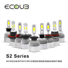 H7 LED Headlight Bulb H4 H1 H3 H11 H13 9005 HB3 9006 HB4 LED Auto Car Styling COB Bulbs Kit 6500K 72W 12V 24V IP65 Fog Lights(China)