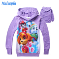 Baby girls spring cartoon hoodies clothes kids girls hooded t shirt t-shirts