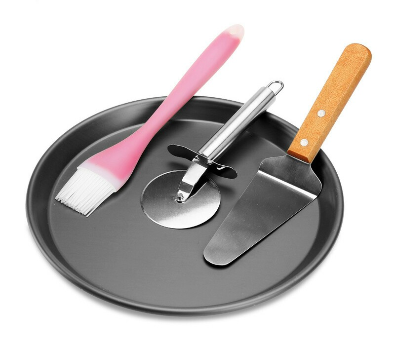 Pizza Tools Bakeware Kitchen,Dining & bar Home &Garden pizza cutters&wheels pizza stones pizza peels stone scrubbers 4pieces set