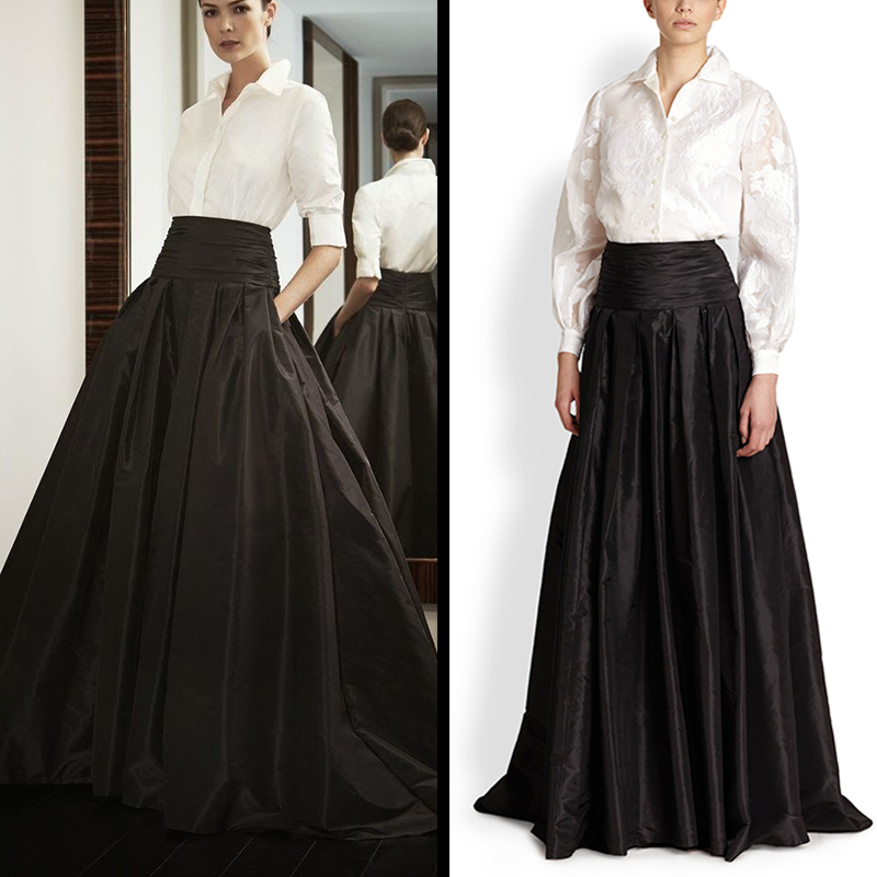 High Quality Black Maxi Pleated Skirt-Buy Cheap Black Maxi Pleated ...