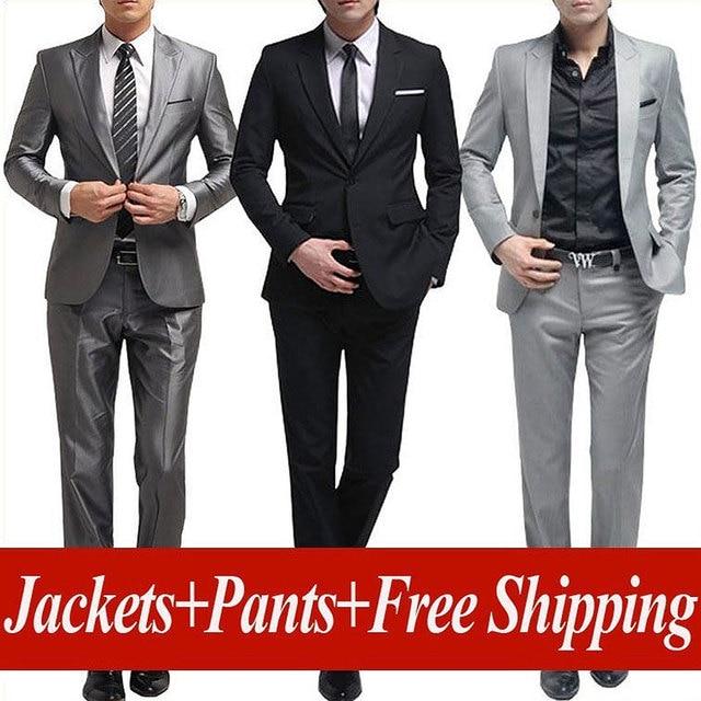 Free shipping men's brand suit Set New style groom business suits men wedding Dress Suit sets, jacket + pants Asia size: XS-XXXL