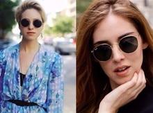 Round Sunglasses Women Retro Brand Designer Classic Rose Gold Steampunk Sun Glasses Men UV400 Rayed Mirror Female UV400