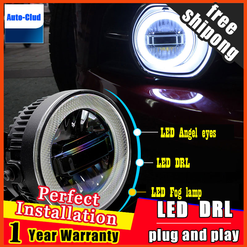 Car Styling Daytime Running Light for Ford Fiesta LED Fog Light Auto Angel Eye Fog Lamp LED DRL 3 function model free shipping auto super bright 3w white eagle eye daytime running fog light lamp bulbs 12v lights car light auto car styling oc 25