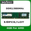 10 ШТ./ЛОТ Оптовая Новый Бренд РАМС DDR2 800 МГц PC2-6400 DIMM Памяти Для Настольных ПК БАРАНОВ Для AMD Системы