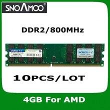 10 шт./лот оптовая новый бренд рамс ddr2 800 мГц 4 ГБ pc2-6400 dimm памяти для настольных пк баранов для amd система
