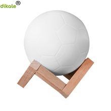цена dikale 3D Print Football FIFA World Cup Souvenir Football Lamp Creative Nightlight Light Touch Switch 3D Printing Materials онлайн в 2017 году
