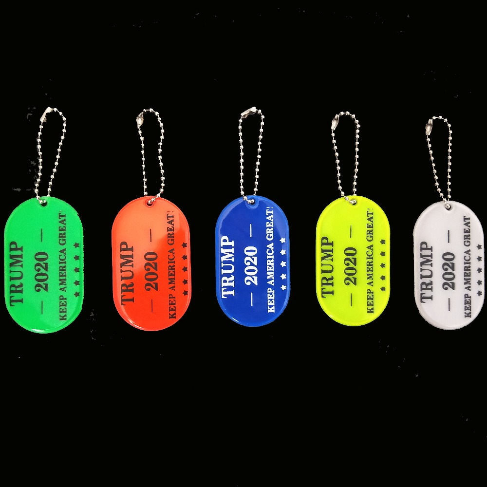 NEW US Re-Election Trump For President 2020 MAGA Make America Great Keep America Great Reflective Keychains Bag Pendant