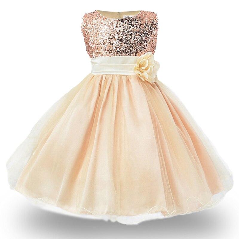 25adf5b21 2019 vestidos de niñas para cumpleaños bebé Niña 3-10 años trajes de navidad  niños niñas lentejuelas princesa fiesta ropa niños ropa