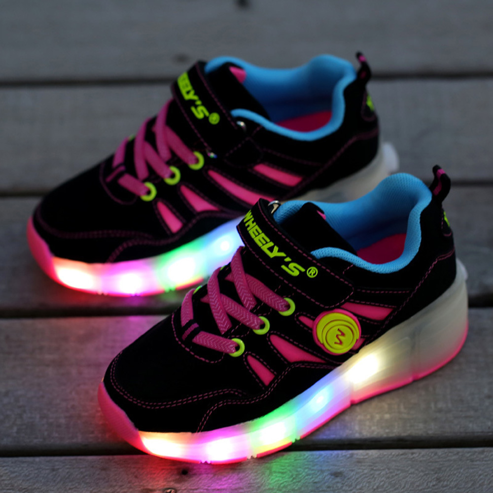 Heely skate shoes reviews - Girls Kids Boys Led Light Wheels Shoes Children Shoes Sneakers With Wheels Roller Shoe Fashion Sport Casual Ice Skates