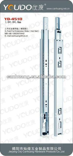 3-fold full extension ball bearing slide