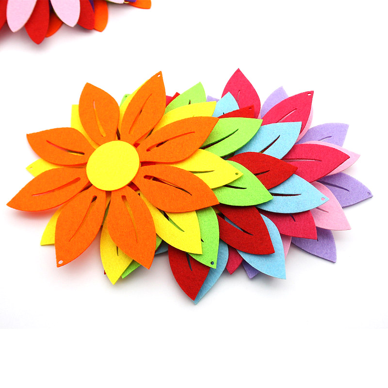 18cm Hollow Flower Felt Cloth Material DIY Decoration Children Room Decoration For Kids Home Decoration Craft Beauty Color