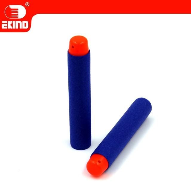 50pcs soft head darts 7.2cm Refill for Nerf Series Blasters Kid Toy Gun