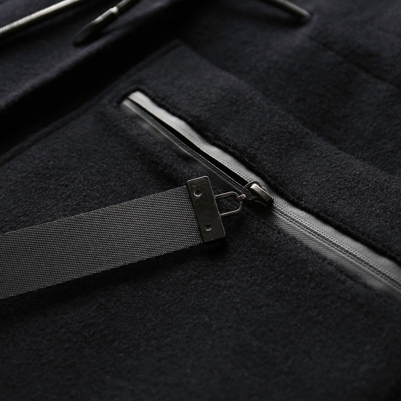 Fermeture Long Solide Nouveau Wool Causal À Femmes Femme D'hiver Green Coat Amii Capuchon Black Côté 2018 Éclair Manteau Coat Minimaliste Lâche army Fente Laine Poches RxRv6U8z