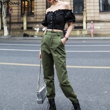 DODOING Spring 2019 New Arrival Ins Style Beam Pants High Wa