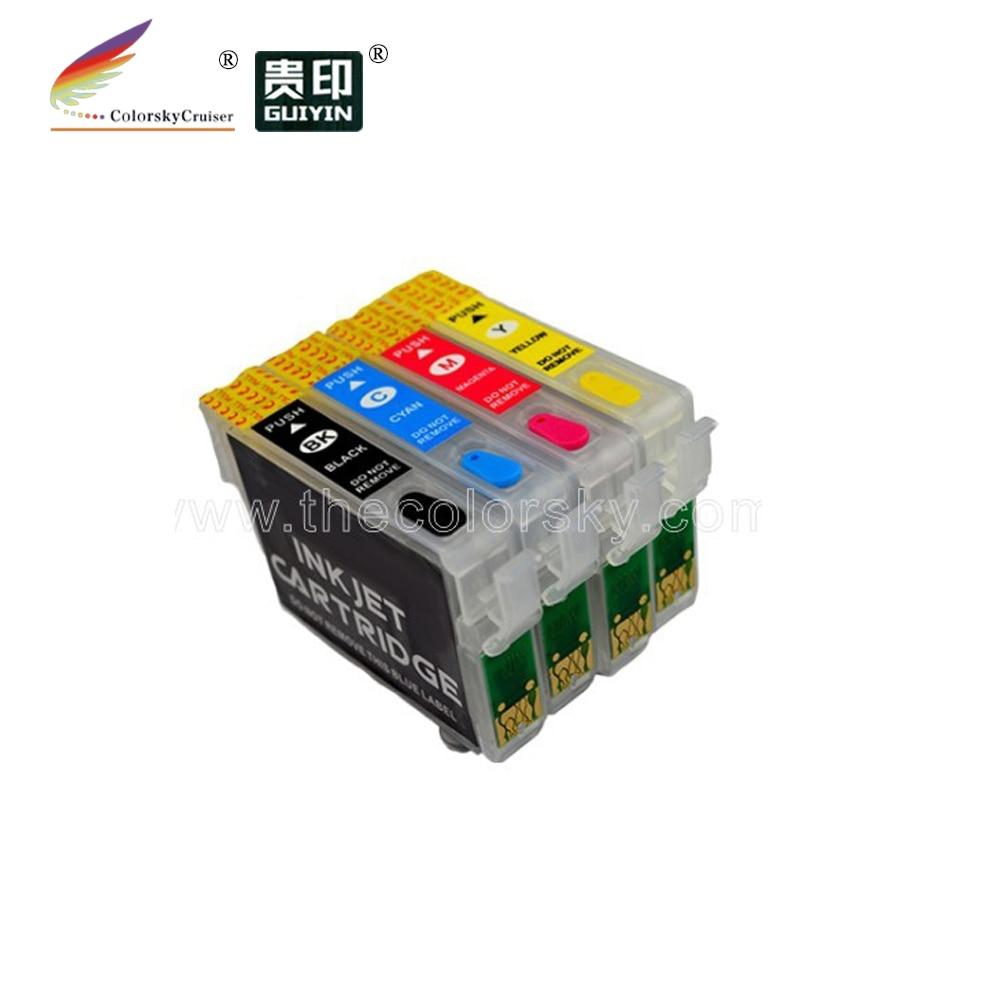 (rce-ic4cl6165) Navulbare Inkjet Cartridge Voor Epson Icbk61 Icc65 Icm65 Icy65 Px-673f Px-1200 Px-1600f Px-1700f Goede Smaak