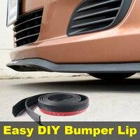 For ZAZ Lanos / Sens / Chance Bumper Lip Lips / Top Gear Shop Spoiler For Car Tuning / TOPGEAR Body Kit + Strip