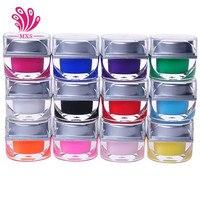 12 Renk Tırnak Sanat Tırnak Dekorasyon Nail Art Glitter UV Builder Jel Akrilik Seti