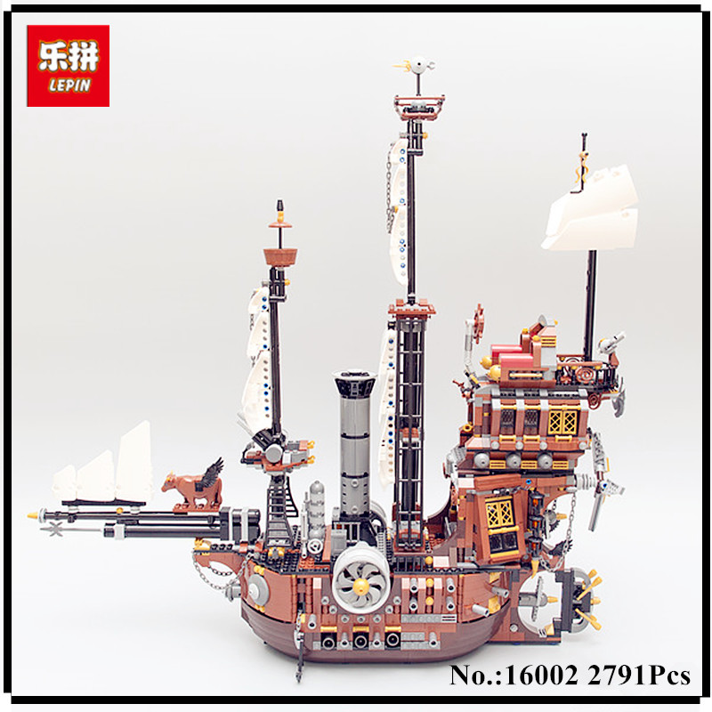 IN STOCK LEPIN 16002 2791Pcs Pirate Ship MetalBeard's Sea Cow Model Building Kits Blocks Bricks Compatible Children Toys 70810 new lepin 22001 pirate ship imperial warships model building kits block briks toys gift 1717pcs compatible