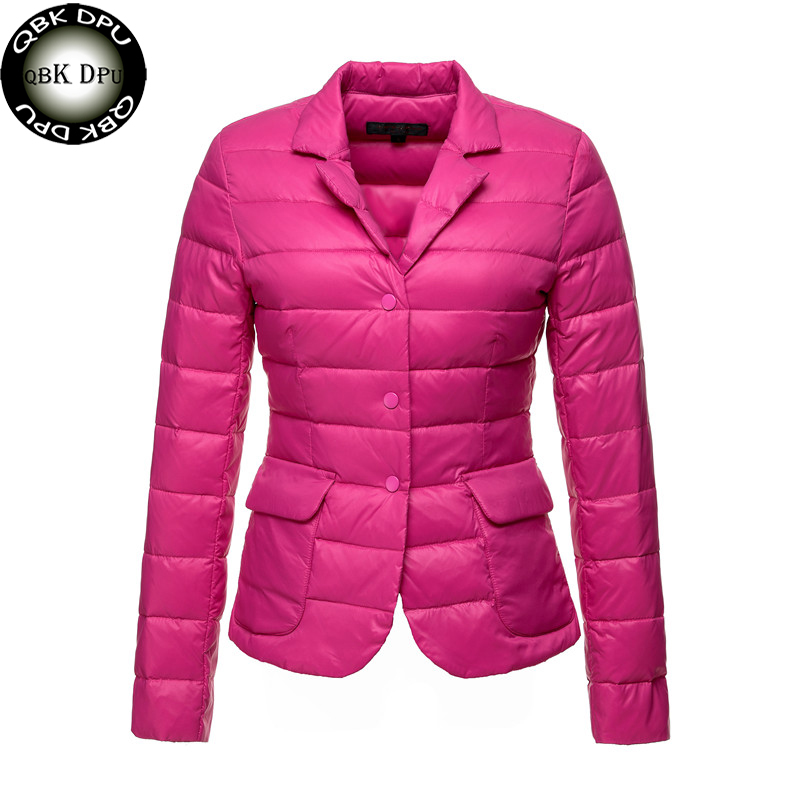 Women's OL Style Winter Short   Down   Jacket 2018 Casual Ladies Ultralight 90% White Duck   Down     Coat   Solid Colors Female Outerwear