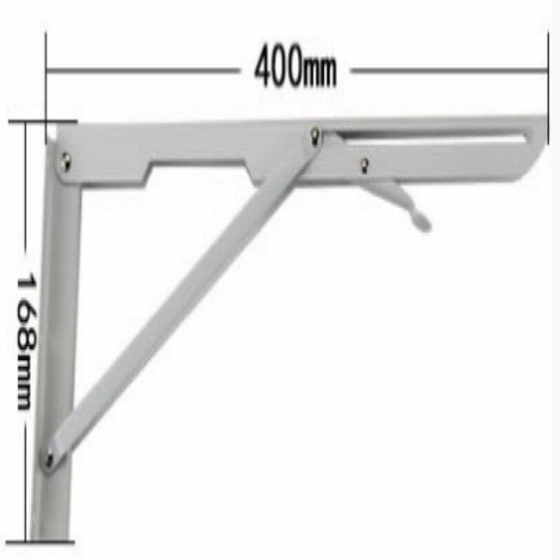 Сделай Сам, стальная стойка для журнального столика, кронштейн для журнального столика, держатель для кафе, длина 25 см, 30 см, 35 см, 40 см, поддержка 80 кг - Цвет: L 40CM