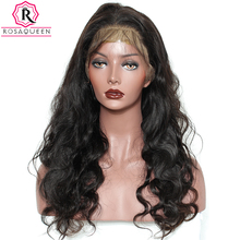 Rosa Queen Lace Front Human Hair Wigs For Black Women Brazilian Body Wave Remy Hair 130% Density With Baby Hair
