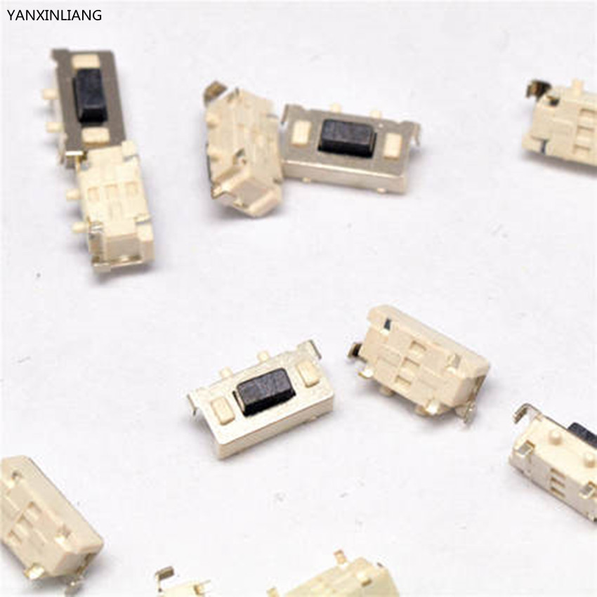 100Pcs 3x6x3.5mm SMT SMD Tact Tactile Push Button Switch SMD Surface Mount Momentary MP3 MP4 MP5 Tablet PC power button switch 50pcs lot 6x6x4 3mm 4pin smt g88 tactile tact push button micro switch self reset dip top copper free shipping