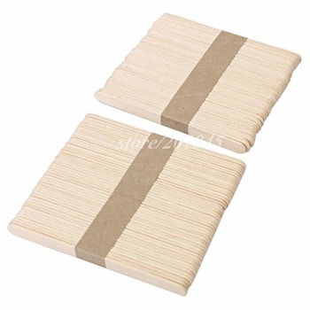 Wholesale 1000Pcs/Pack Medical Disposable Sterile Waxing Tongue Depressor Wax Stick Spatula For Oral Examination Birch